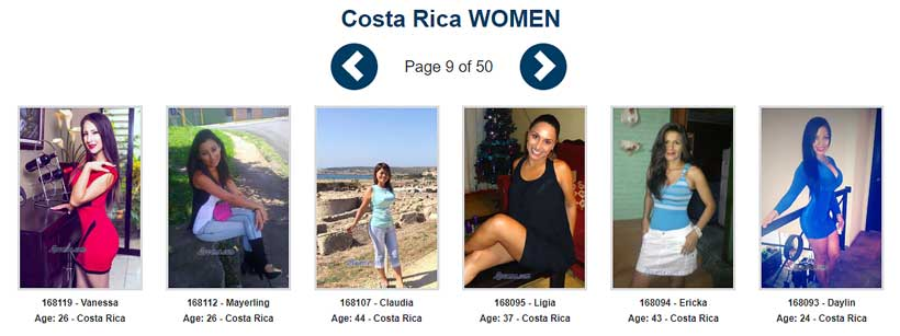 Costa Rica Brides - Single girls and women from Costa Rica seeking men